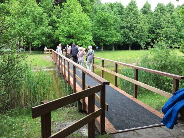 Nieuwe loopbrug Onze Lieve Vrouwe Abdij Oosterhout