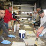 Vakmannen volgen cursus houtrotsanering met Polyfilla