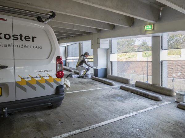 Mooie schilderopdracht parking Dordrecht